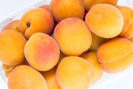 biological: Apricots from biological farming. Top view for background.