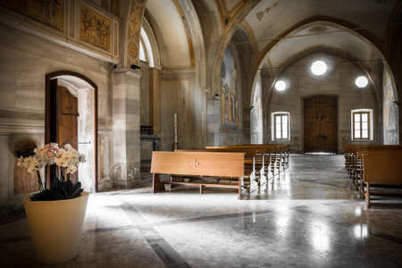 prada: Interior view of the Church of Our Lady of Prada, Bergamo (ITALY) Editorial