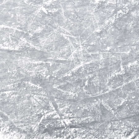 Ice rink floor, detail of a textured background ice, winter sports.