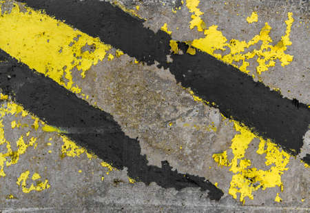 hazard stripes: Industry warning sign. Abstract grunge background. Stock Photo