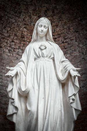 両手を広げて、底面図聖母のクローズ アップ。