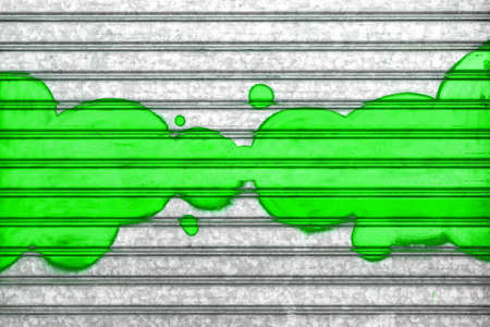 Green bubbles painted with spray paint on a roller shutter.  It can be used as a poster, wallpaper, design t-shirts and more. Fully editable.