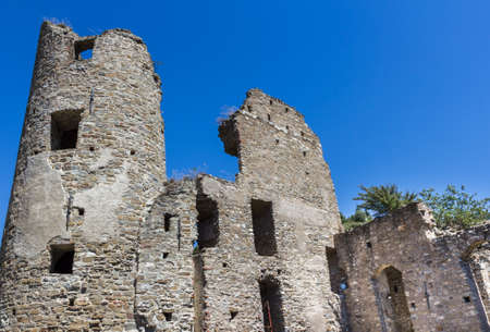 Dorias castle in Dolceaqua (Liguria), amazing medieval village of Italy. Stock Photo