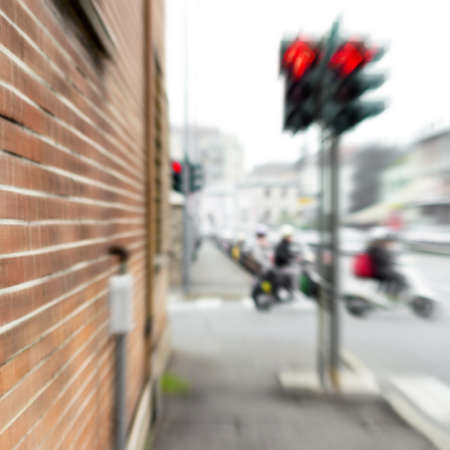 mopeds: Blur image of mopeds and traffic in the city for abstract background