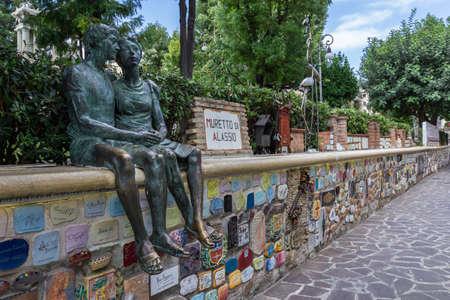 Alassio (SV), ITALY - August 22, 2017:  ceramics