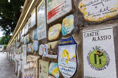 Alassio (SV), ITALY - August 22, 2017: Muretto di Alassio, the famous Little Wall in Alassio. Stock Photo