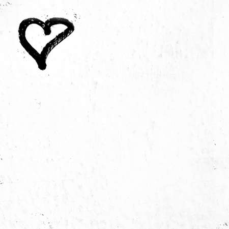 Concepto o conceptual pintado negro abstracto forma de corazón símbolo de amor Foto de archivo - 90158104
