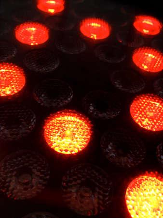 Lighting laser projector lamp. Details. Extrem close up. Foto de archivo - 96786759