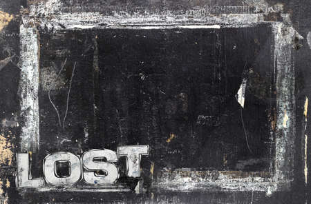 Lost sign with grunge background, ideal to many uses.