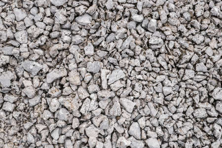 White and gray pebbles ideal for textures and backgrounds Imagens