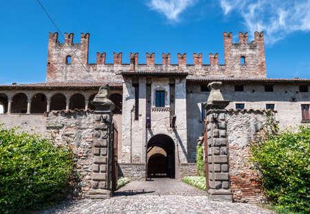 The castle of Malpaga. Cavernago (BG), ITALY - July 22, 2018