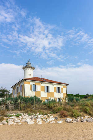 Lighthouse of Bibione (VENEZIA), ITALY - August 24, 2018