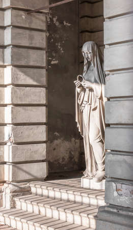 Statue in stone of Virgin Mary. Ideal for Christmas, Easter concepts and other. Stok Fotoğraf
