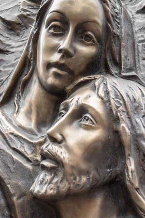 Mother Mary holding her son Jesus Archivio Fotografico
