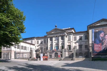 The Accademia Carrara is an art gallery and an academy of fine arts in Bergamo, Italy. Bergamo, ITALY - May 6, 2019. 新聞圖片