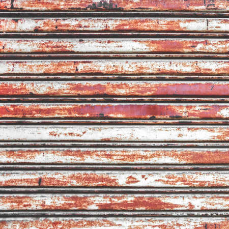 Rusty shutters of a garage. Ideal for concept and backgrounds.
