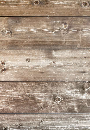 Rustic wooden background. Vertical wooden plank with knots, pattern of natural aged color.