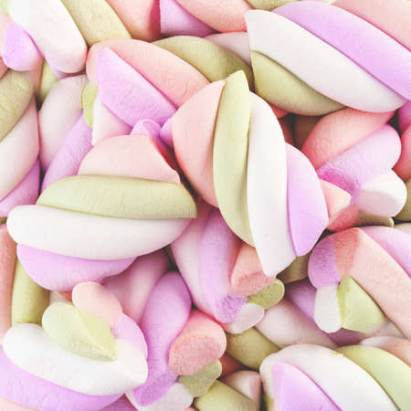 Marshmallow background. Colorful marshmallows candy for background uses.