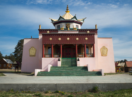 Buddhist temple in Ulan-Ude, Russia. Located in Buryatia 版權商用圖片