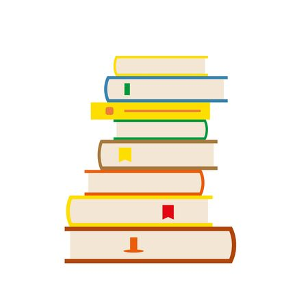 stack of books, primitive, illustration Vectores
