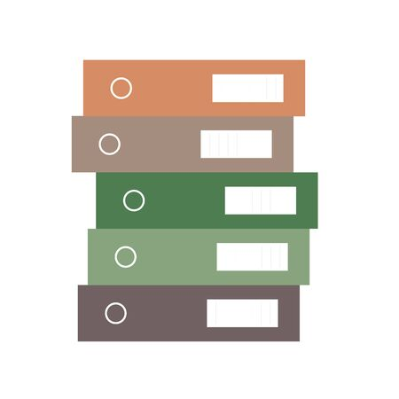 Folders file order and stack of books. Documents business icon management office data. Technology information archive isolated design. Illustration design isolated organize finance doc stack Illustration