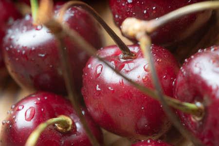 red cherries, cherries closeup, macro