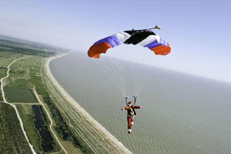 parachuting: Skydiving photo  Stock Photo
