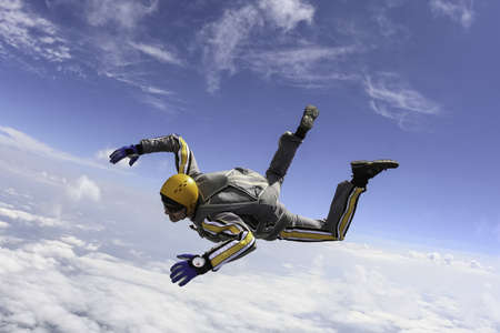 The student performs the task skydiver in freefall  photo