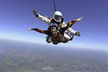 parachute jump: Skydiving photo