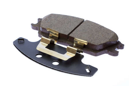 Brake pads on a white background  photo