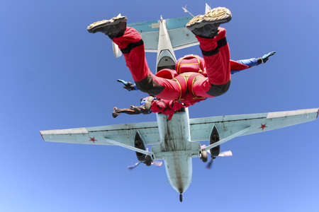 thrill: Skydiving photo  Stock Photo