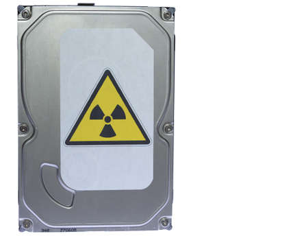 winchester: Hard drive with the label of virus infection