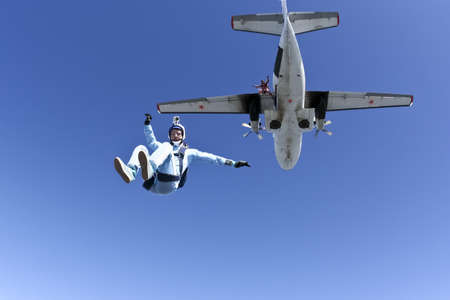 Skydiver doing skydiving