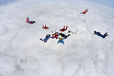 formation: Skydiving photo  Stock Photo