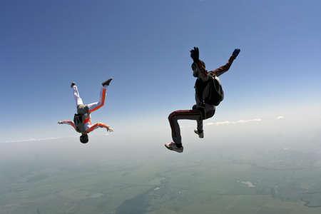 caida libre: Los paracaidistas en ca�da libre