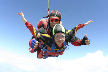 tandem: Skydiving photo  Stock Photo