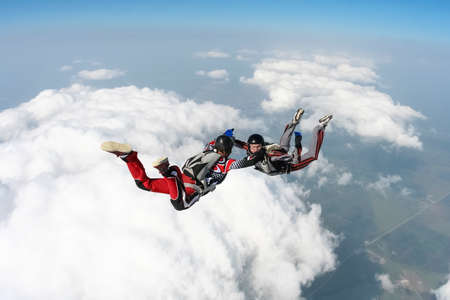 freefall: Two skydiver in freefall