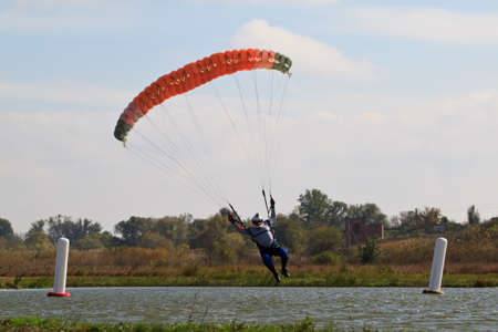 piloting: Skydiving photo  Stock Photo