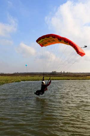 lowering: Skydiving photo  Stock Photo