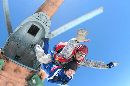 parachute jump: Skydiving photo  Tandem