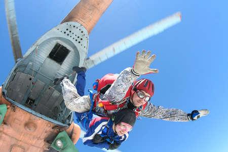parachuting: Skydiving photo  Tandem