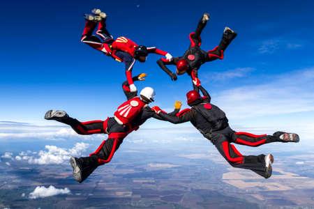 fallschirm: Fallschirmspringer in der relativen Arbeits