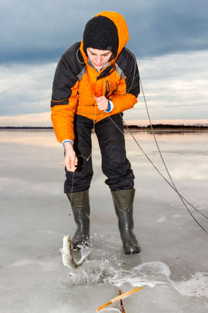 ice fishing: Ice fishing