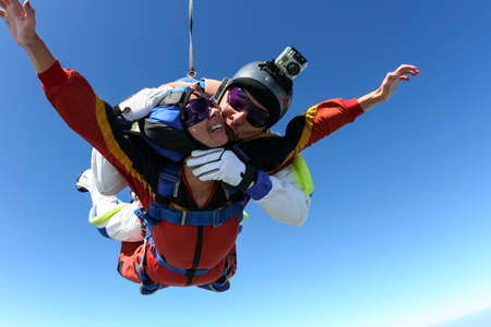 extreme danger: Skydiving photo   Stock Photo