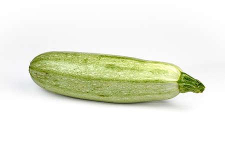 phallic: Fresh zucchini isolated on white