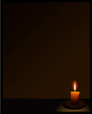 black background with candle
