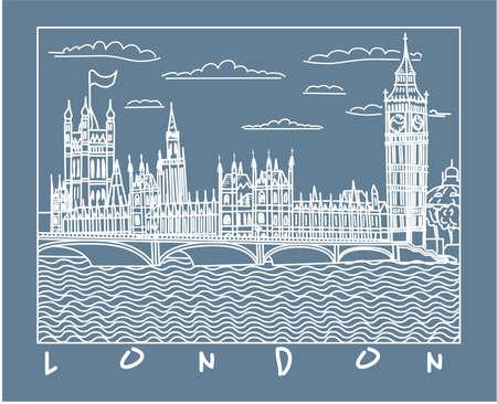 Londen schets Stock Illustratie