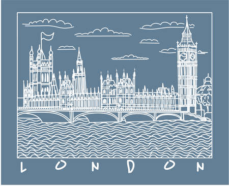 London schizzo Archivio Fotografico - 10097786