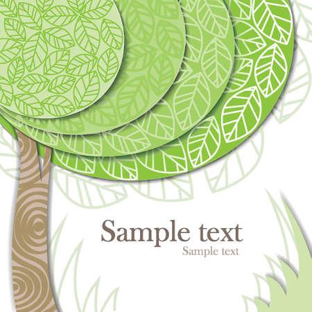 природа: стилизованное зеленое дерево