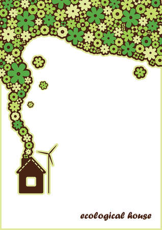 solar house: background ecological house Illustration